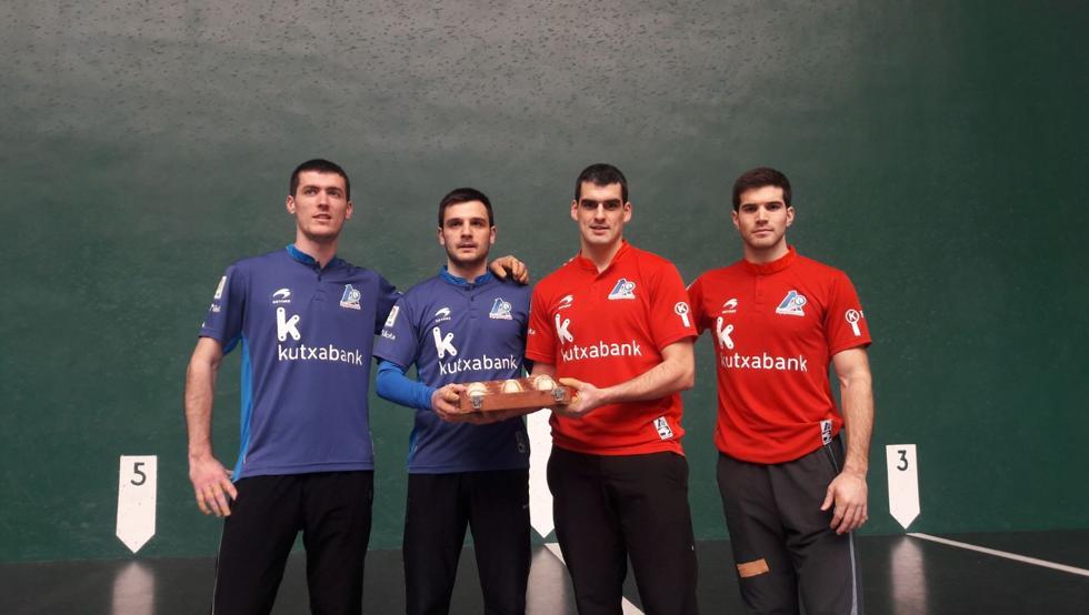 Los cuatro finalistas, en la elección del partido que les enfrentó en semifinales