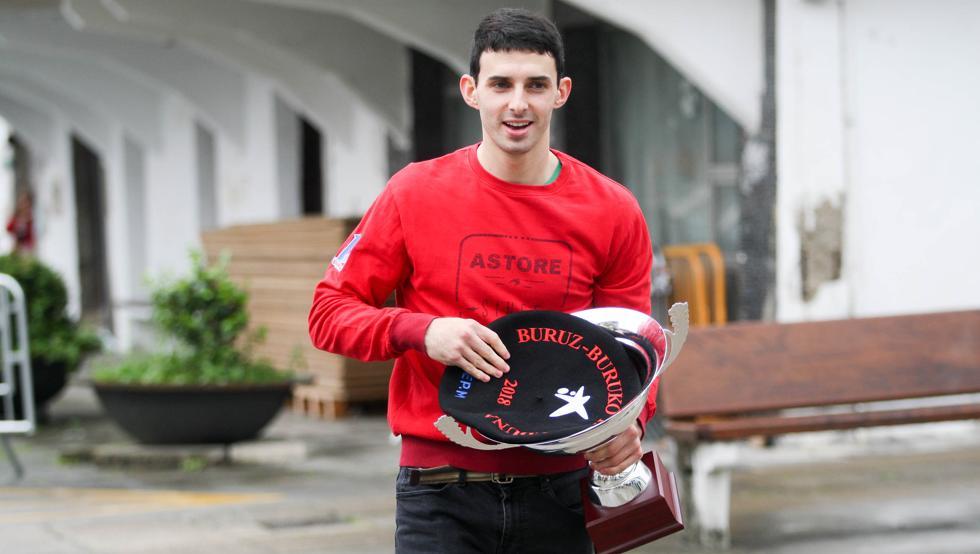 Jokin Altuna campeón del manomanista del 2018 en Amezketa