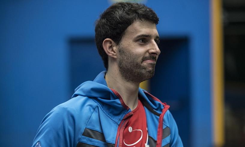 Jokin Altuna descansa tras un entrenamiento