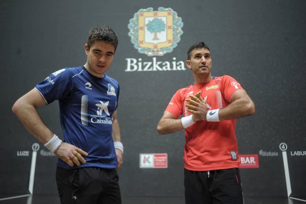 Iker Irribarria y Mikel Urrutikoetxea vuelven a verse las caras en una final manomanista tres años después.