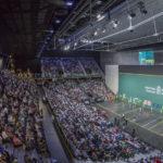 Imagen del Navarra Arena durante un partido