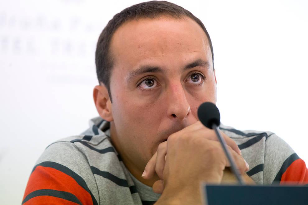 Momento en el que Juan Martínez de Irujo anunció que sufría una afección cardiaca en 2016