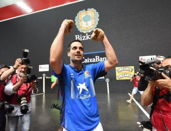 Oinatz Bengoetxea fue en 2017 el último campeón navarro del Manomanista